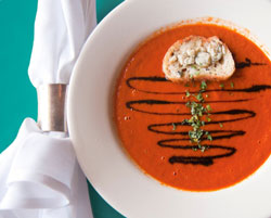 Roasted Tomato & Red Pepper Bisque